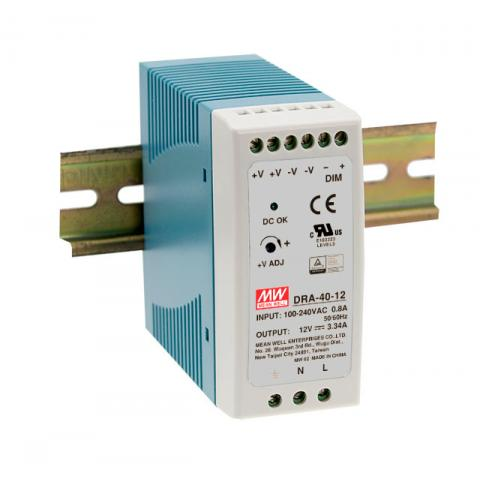 Meanwell programmable DIN Rail power supply