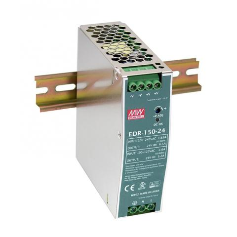Meanwell EDR-150 Low Cost DIN Rail Power Supply
